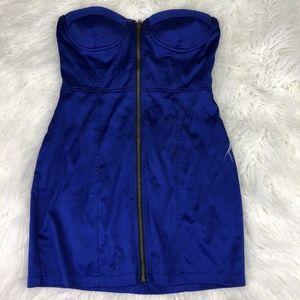 Twenty One Women's Small Blue Strapless Dress